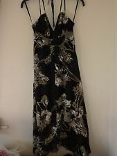 New Look halterneck black and silver dress size 10