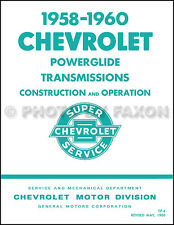 1958 1959 1960 Chevy Powerglide Transmission Service Training Manual Car Truck
