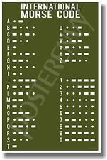 Morse Code Army - NEW Military POSTER