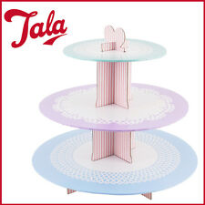 3 Tier Cupcake Stand TALA Cardboard Birthday Party Cake Decor New Holder Display