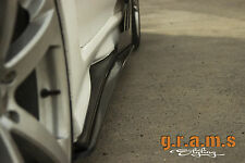 Universal 215cm CARBON FIBER Side Steps / Side Skirt Extensions Performance v4