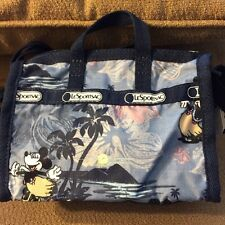 Lesportsac Mini Weekender Crossbody In Mickey & Minnie Vacation Paradise-New