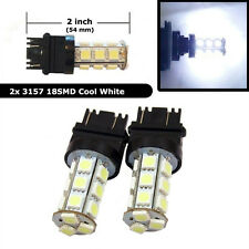 2Pcs 3157 White 18SMD 5050 Reverse Back Up/Tail/Brake/Stop/Turn LED Light Bulbs