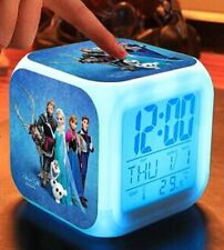 7 LED Colors Digital Clock Frozen Anna and Elsa with Thermometer -5 characters