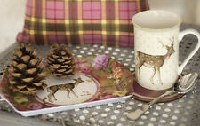 Katie Alice Highland Fling Stag Shabby Chic Time For Tea Gift Set