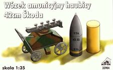 42cm SKODA M.14/16/17(t) AMMO & MUNITION TROLLEY  to SIEGE HOWITZER  1/35 RPM