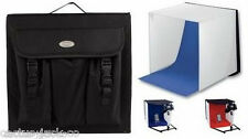 Portable Mini Foto Studio Con Rosso & Blue Sfondi PLUS Carry Bag