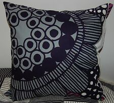 "Marimekko Siirtolapuutarha pillow cushion case, 18"", 45cm, Finland gray purple"