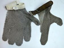 Old Archery Chain Mail Finger Guard; Mail Glove Lot 206