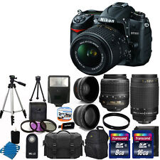 NEW Nikon D7000 Digital SLR Camera w 4 Lens Complete DSLR Kit 24GB TOP VALUE!