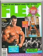 FLEX bodybuilding muscle magazine/Mr Olympia DORIAN YATES & BARBARA MORAN 1-98