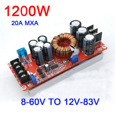 1200W 20A DC Converter Boost car Power Supply Module 8-60V Step-up 12v-83V 24v