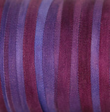 4mm Hand Dyed Silk Ribbon - 3 meters Purple Plum