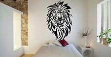Wall Room Decor Art Vinyl Sticker Mural Decal Tribal Animal Lion Leo King FI553