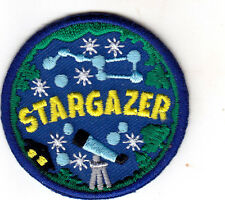 """STARGAZER"" - STARS - MOON - ASTROLOGY - Iron On Embroidered Applique Patch"