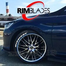 UK White Genuine Rimblades Alloy Wheel Guards Protectors Set of 4 fit 12- 22""