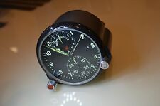 USSR Military AirForce Aircraft Cockpit Clock AChS-1 Soviet Russian