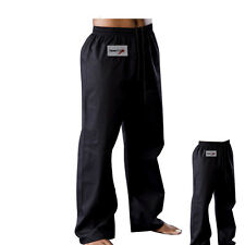 TurnerMAX Karate Gi Trousers Martial Arts Pants Kung Fu Black Cotton 160cm