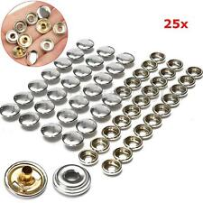 25x Caps With 25x Buttons Sockets For Boat Marine Boat Canvas Snaps Durable Dot
