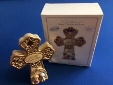 "Precious Moments LED musical Cross 7"", Let His Light Shine, plays ""Silent Night"""