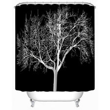 Black Snow Big Tree Printed Polyester Shower Curtain Bathroom Curtain Hot Sell