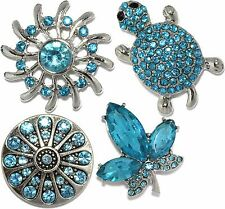 GoldenEagleJ 10pc Turquoise Snap On Button Charm Jewelry Wholesale Lot