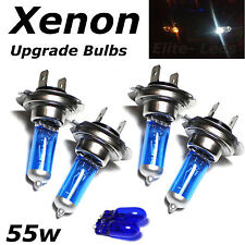 4 x H7 55w Super White Xenon Upgrade Dipped Beam Head Light Bulbs + Sidelights
