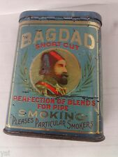 VINTAGE ADVERTISING BAGDAD TOBACCO  VERTICAL POCKET TIN   853-