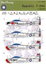 Bestfong Decals 1/72 REPUBLIC F-84G THUNDERJET Chinese Air Force