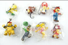 Wholesale Lot 1set 8pcs Super Mario Hard Plastic Cell Phone Mp3 Mp4 Charms Gift