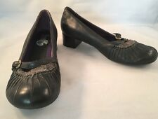 Indigo By Clarks Black Maryjane Pump Shoe Heel Size 6.5