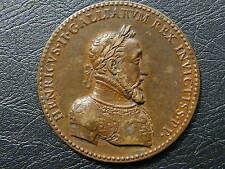 France HENRI II Victories over Holy Roman Empire Bronze Medal 1552