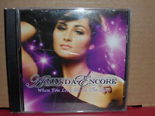Amanda Encore - When You Look Me in the Eyes PROMO CD Single with REMIXES
