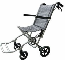 Lightweight Folding Aluminum Transport Chair 16.5 lbs Wheelchair with Carry Bag