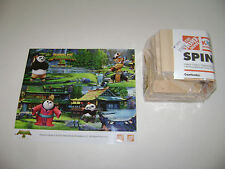 NEW HOME DEPOT KIDS PANDA 3 SPINING BOX SET KIT LOWES BUILD GROW WOODEN PROJECT
