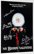 MY BLOODY VALENTINE CAST SIGNED 12x18 PHOTO POSTER UDY KOVACS MURCHISON +COA