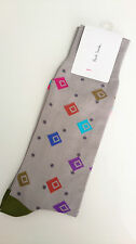 Genuine Paul Smith Men's Socks-Grey Gray 'Spray Diamond' Socks/BNWT