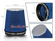 """BLUE Short 6"""" 152mm Inlet Truck Air Intake Cone Replacement Dry Air Filter"""