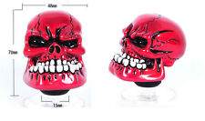 Gear Manual Shift Knob Lever Shifter Head for Wicked Carved Pink Red Skull Head