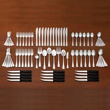Pfaltzgraff Pearl 80 Piece Flatware Set, Service for 12