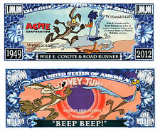 Wile E Coyote & Road Runner Novelty Dollar & semi rigid  protector & free ship