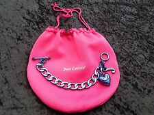 NIB Juicy Couture New Genuine Blue Chain Link Statement Bracelet Wth T.Bar Close