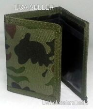 Tri-fold Camouflage Men's Wallet ARMY Camo Velcro Wallet - NEW