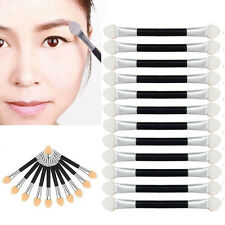 12PCS Makeup Double-end Eye Shadow Eyeliner Brush Sponge Applicator Tool NICE