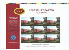 GB 2011 Nene Valley Railway RPG Conv. Railway Letter Stamps Imperf Proof sheet