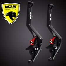 MZS CNC Brake & Clutch Levers Fit For Honda CBR929RR 2000-2001 Black 1 Pair