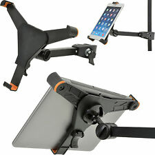 "7"" To 8.5 Inch Adjustable Tablet Clamp Stand–Tilt Swivel Bracket iPad-Pole 28mm"