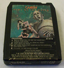Queen -News Of The World 8 Track Cartridge 1977 Elektra ET-8112 We Are Champions