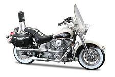 Harley Davidson 1993 FLSTN Heritage Softail Nostalgia 1:18 schwarz weiß