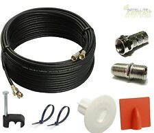 50m Twin Satellite Cable Extension Kit For Sky+ HD With Grommet,Brick burst,Ties
